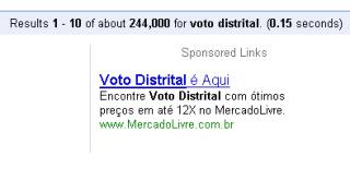 Voto distrital no Mercado Livre